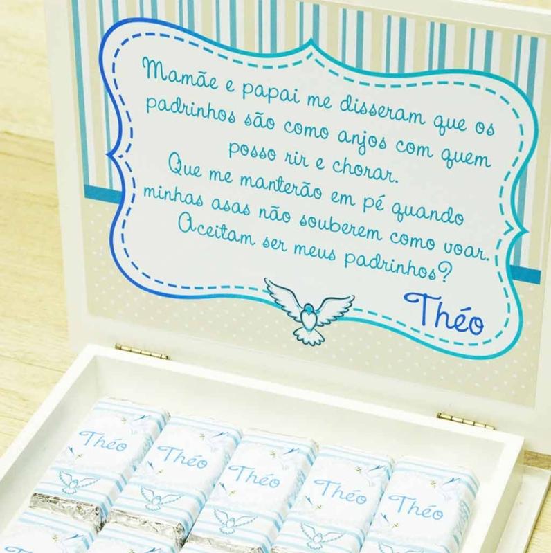 Lembrancinha de Batizado para Padrinhos Jardim Europa - Lembrancinha de Batizado Menina
