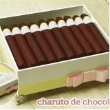 charuto de chocolate para nascimento preços Freguesia do Ó