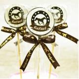 pirulito de chocolate lembrança maternidade à venda Atibaia