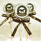 pirulitos de chocolate lembrancinhas de maternidade Jaraguá