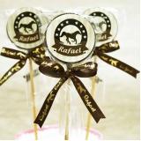 pirulitos de chocolate para aniversário Ipiranga